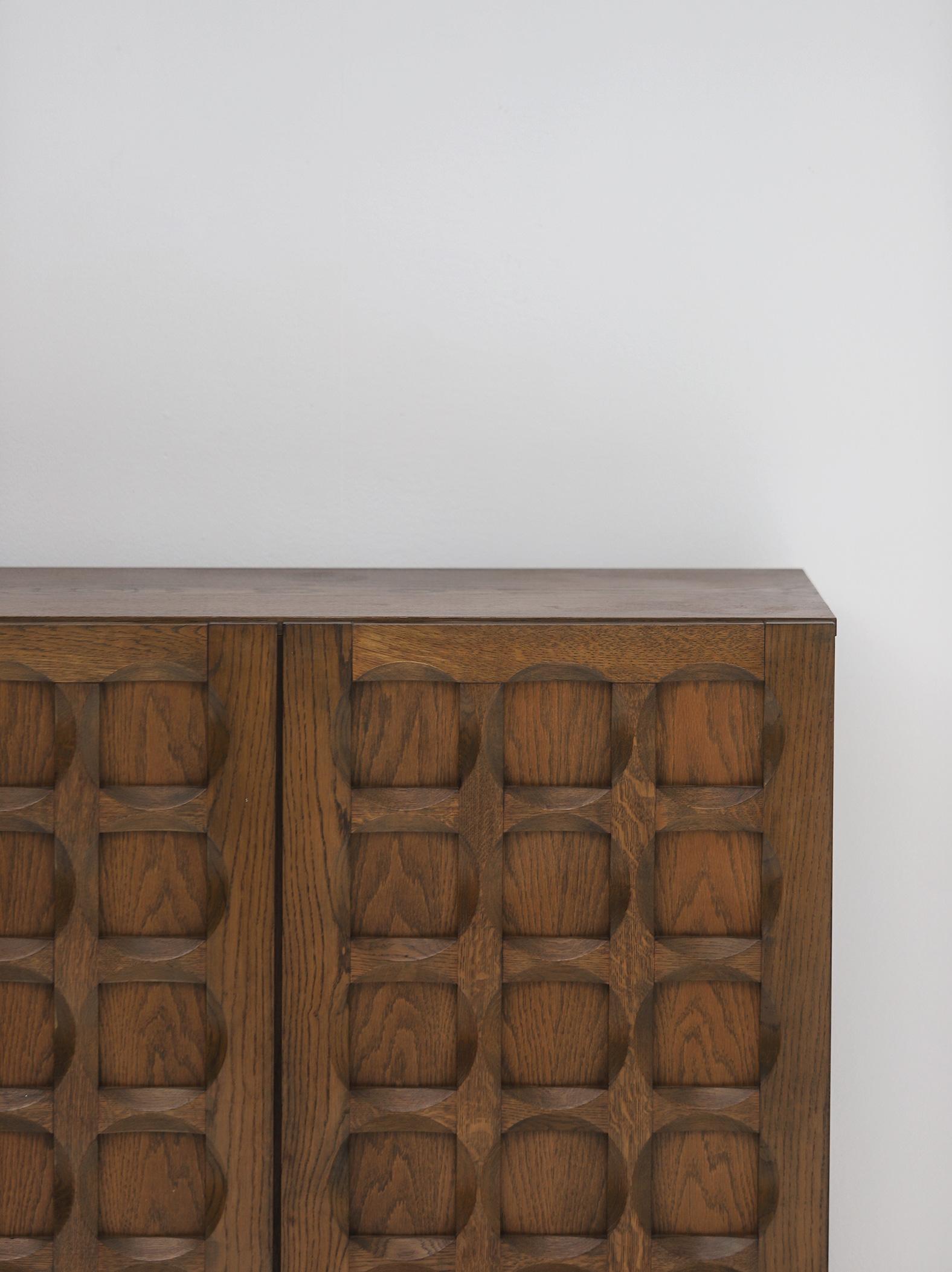 1970s Defour Cabinet Graphical Door Panels image 9