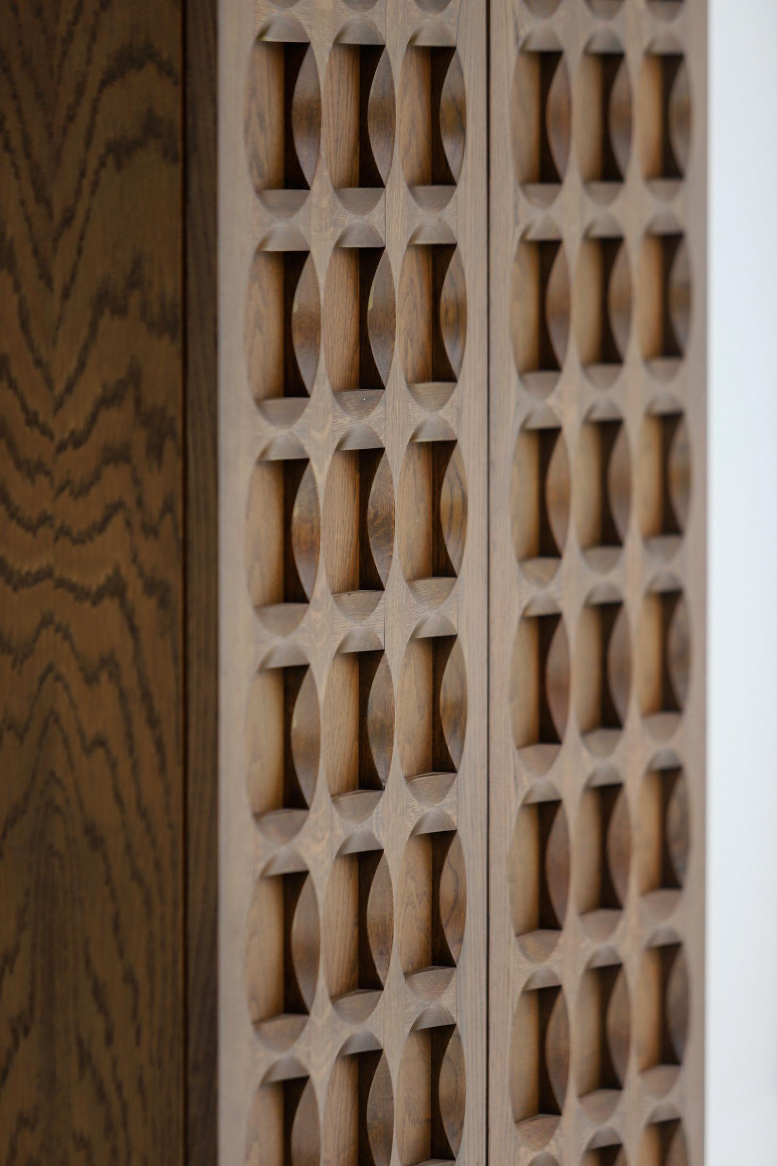1970s Defour Cabinet Graphical Door Panels image 8