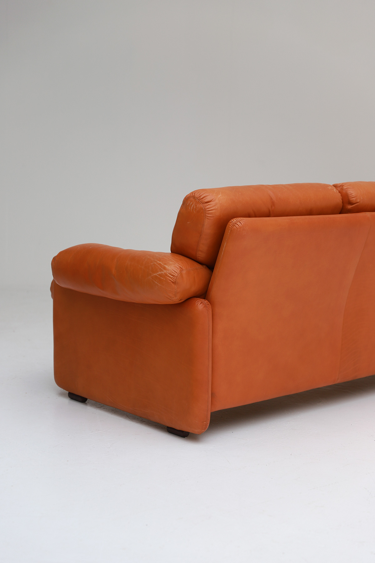 Tobia Scarpa 4 seat Cognac Leather Sofa B&B Italiaimage 7