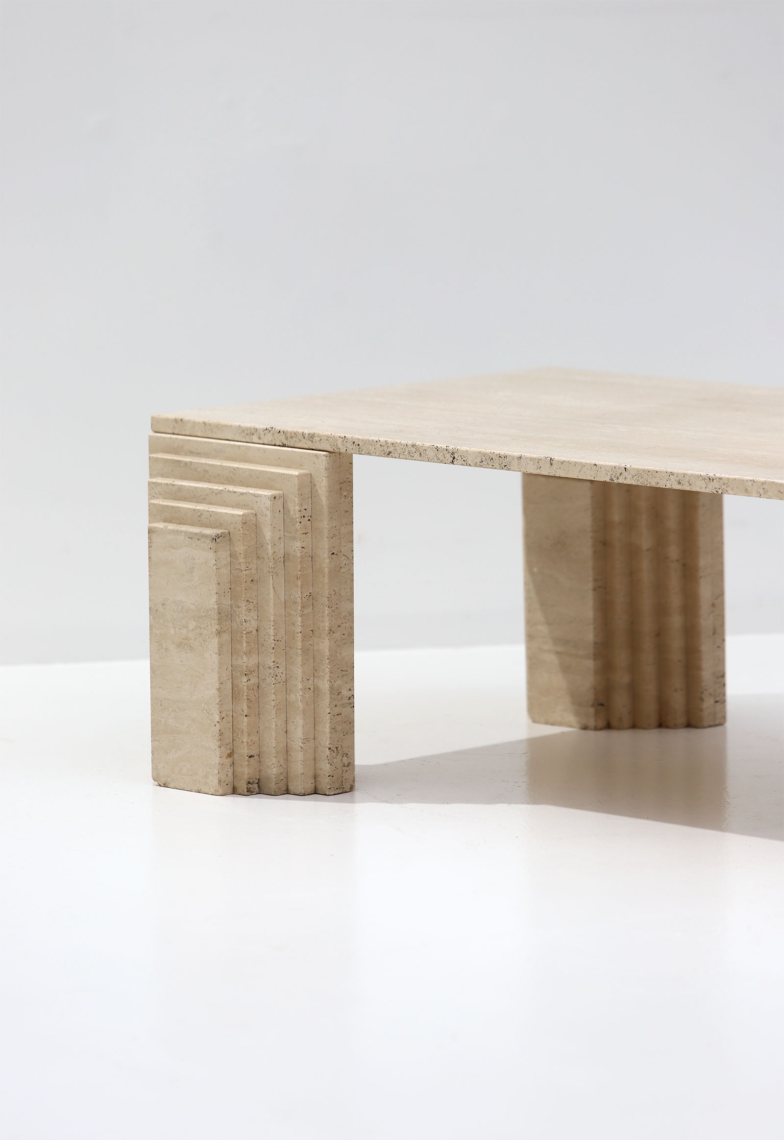 Modern Travertine Coffee Table 1970s