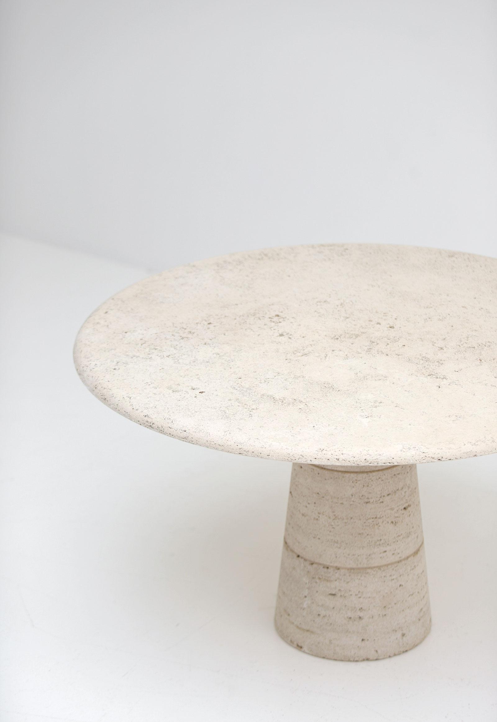 Travertin Round Dining Table Up&Upimage 4