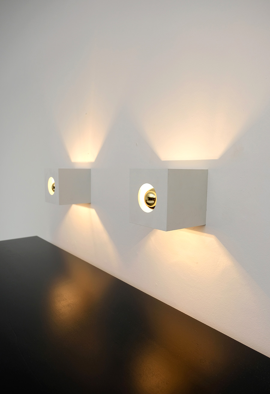 PAIR OF PHILIPS WALL SCONCES 1960Simage 1