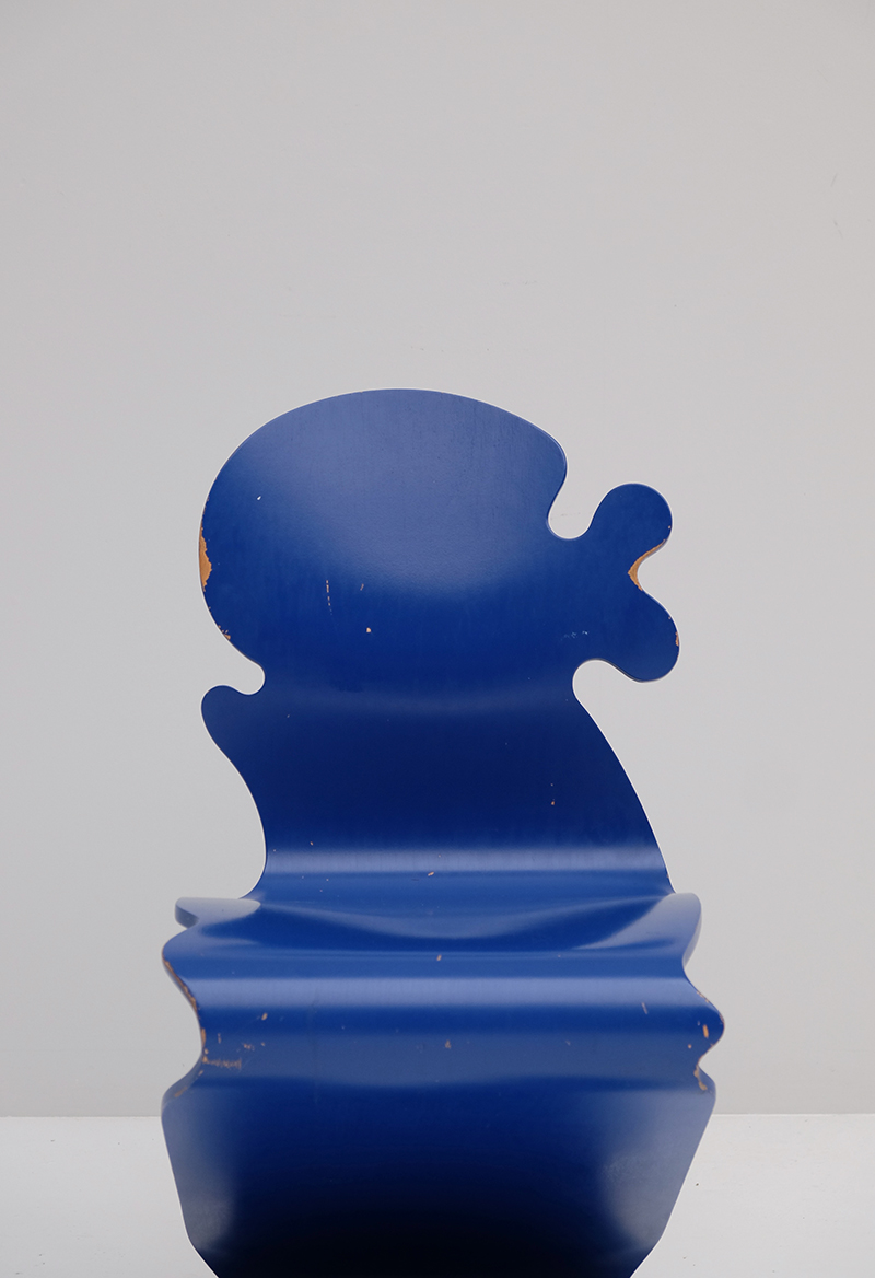 VERNER PANTON BLUE PANTONIC CHAIR