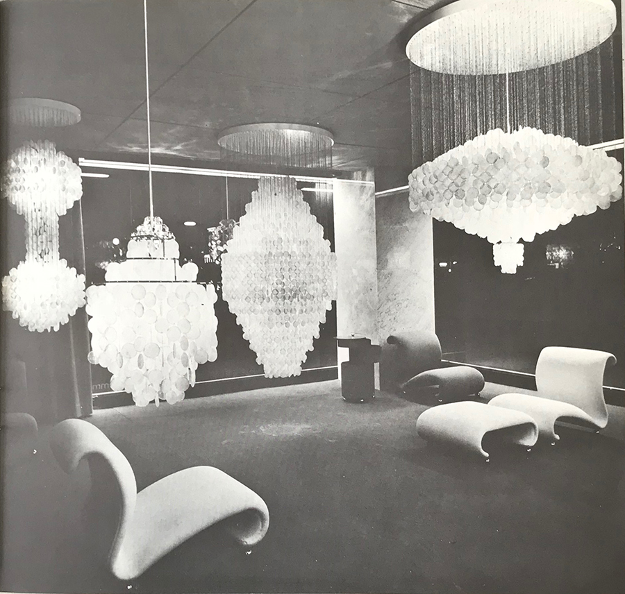 Verner Panton Chandelier FUN 1dm