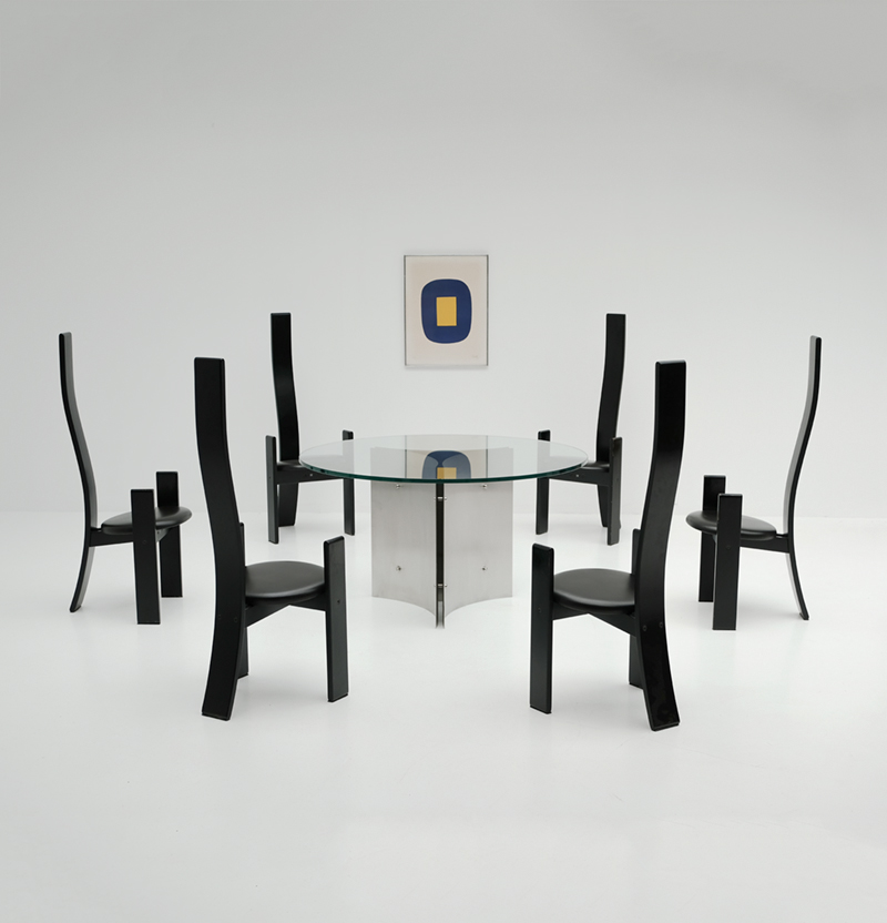 Vico Magistretti Gollem dining chairs