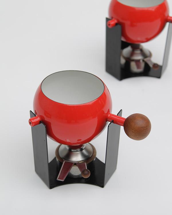 Mid-century teak, fondue set