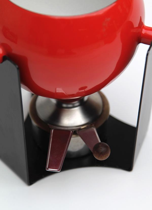 Mid-century teak, fondue set image 3
