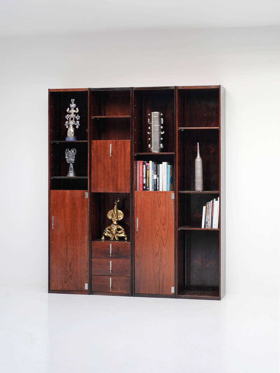 70s Double faced Bookcase / Room divider
