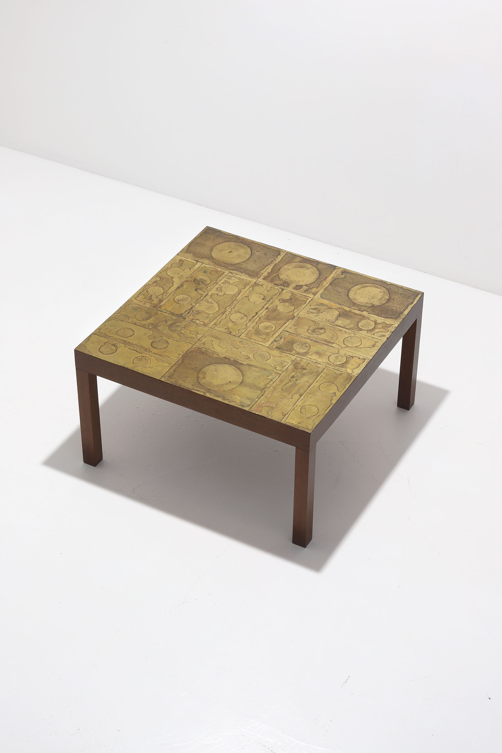 Willy Daro Brass etched Coffee Table 1970simage 3