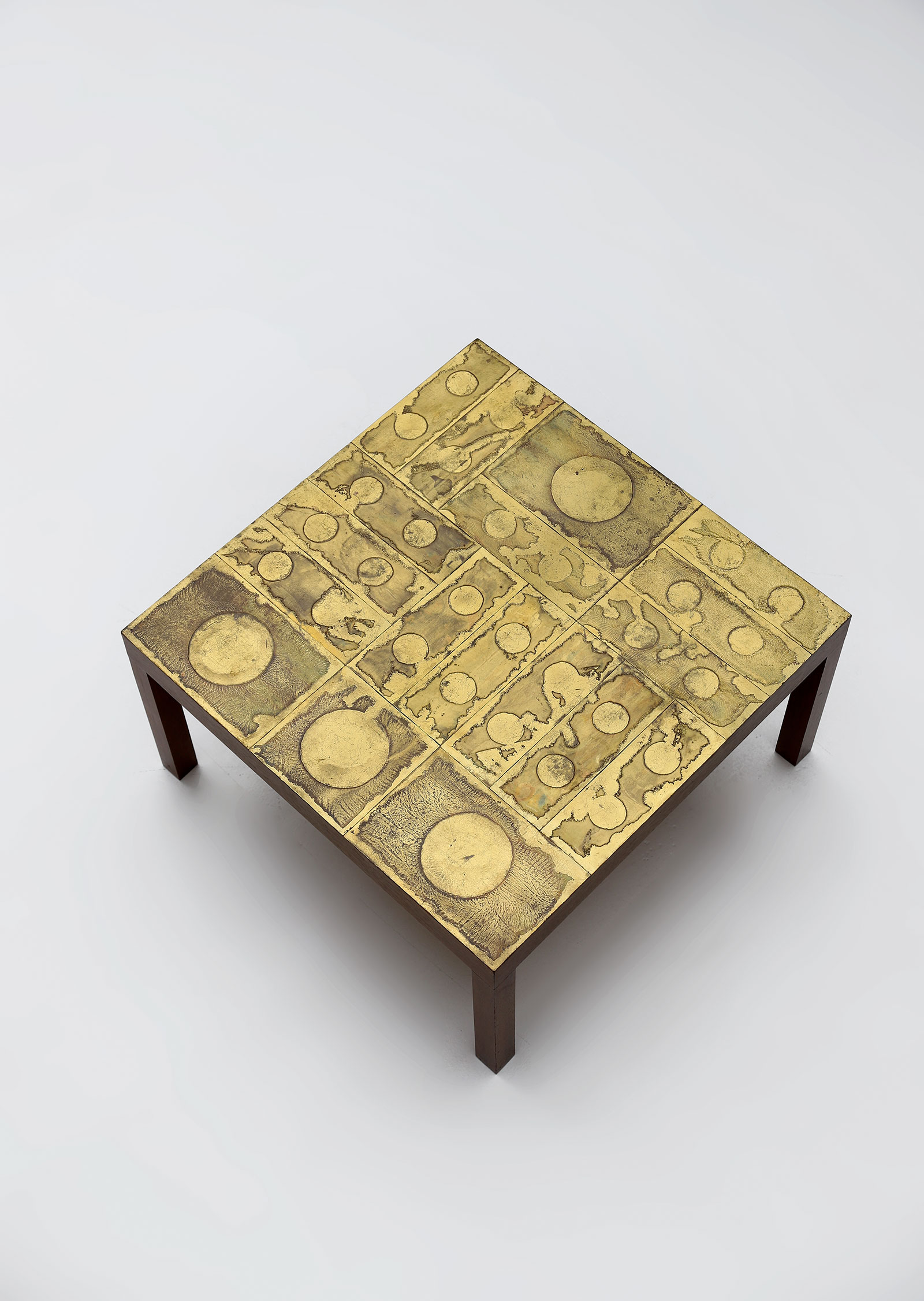Willy Daro Brass etched Coffee Table 1970simage 6
