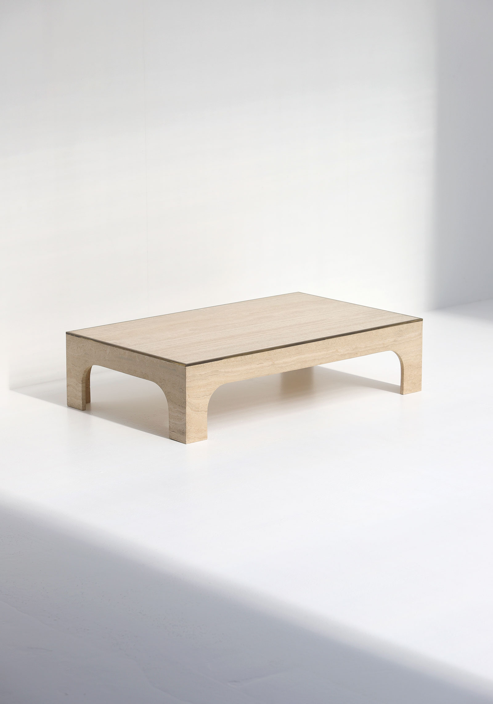 Decorative Willy Rizzo Travertin Coffee Table image 10