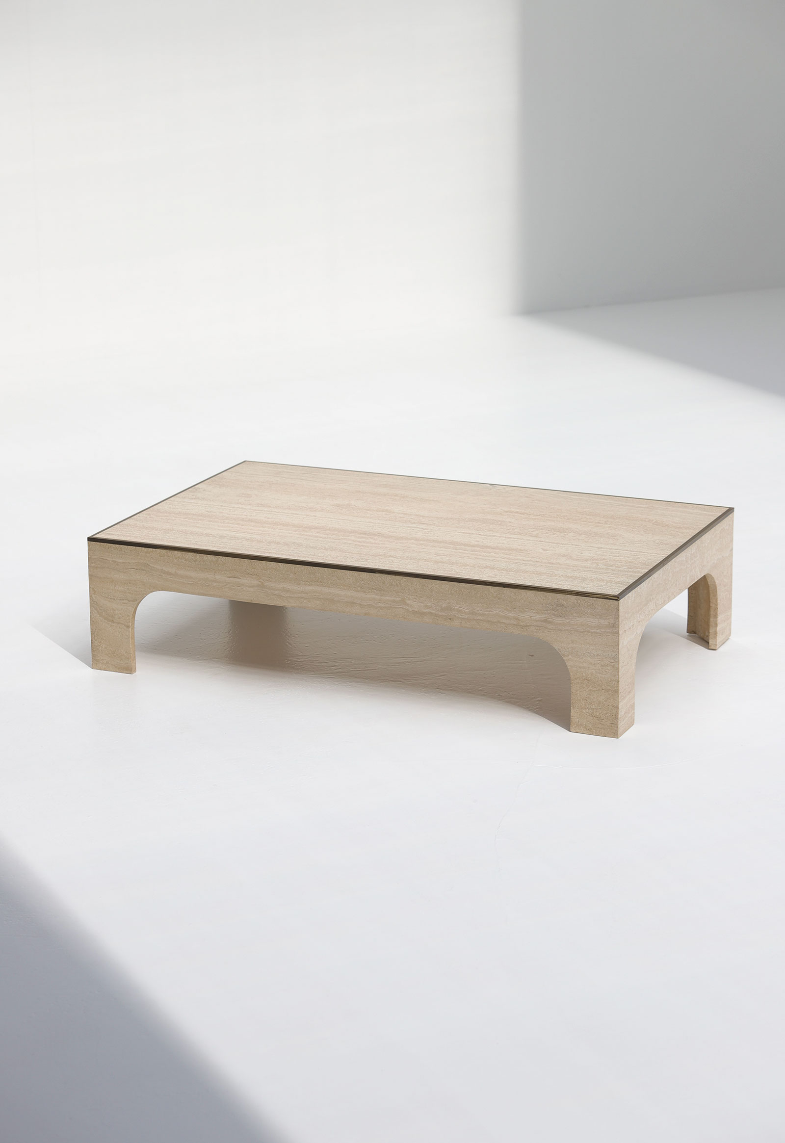 Decorative Willy Rizzo Travertin Coffee Table image 3
