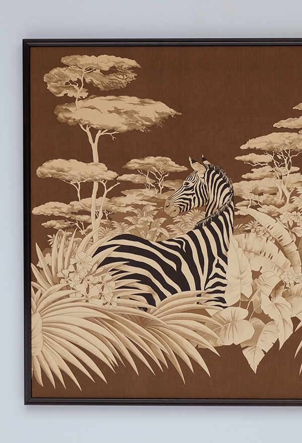 DECORATIVE ZEBRA PRINT ON FABRIC 1980