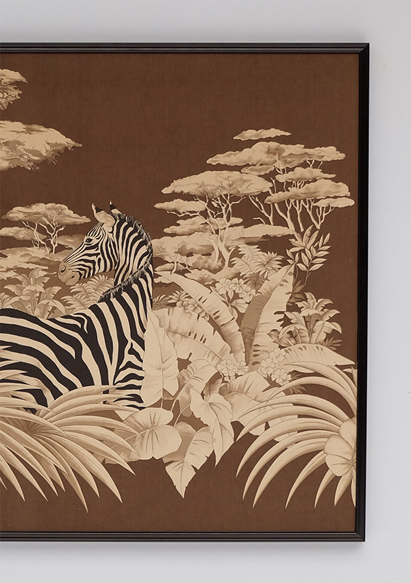 DECORATIVE ZEBRA PRINT ON FABRIC 1980 image 3