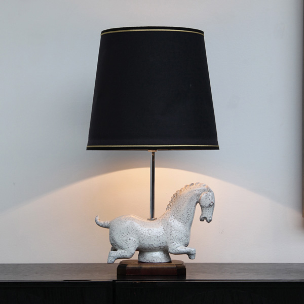 Ceramic Table Lamps In The Form of A Dynasty Horse