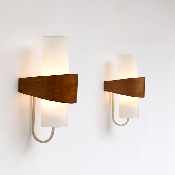 city furniture pair of modern philips wall lights 1950s. Black Bedroom Furniture Sets. Home Design Ideas