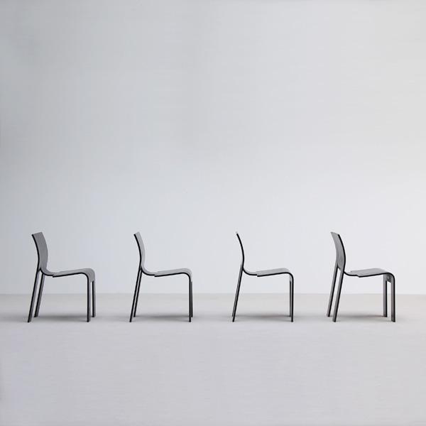 Gijs Bakker 4 strip chairs for Castelijn 1970s