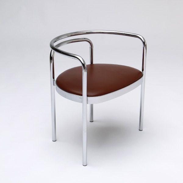 Poul Kjaerholm RARE PK 12 chair in steel tubing