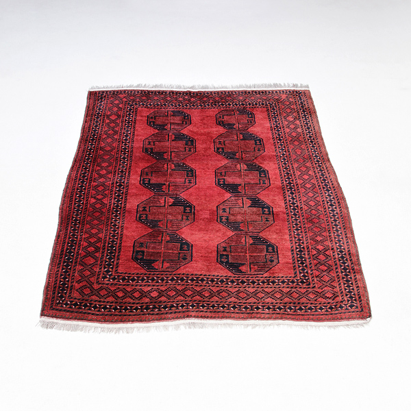 beautiful red amber Afghanistan carpet