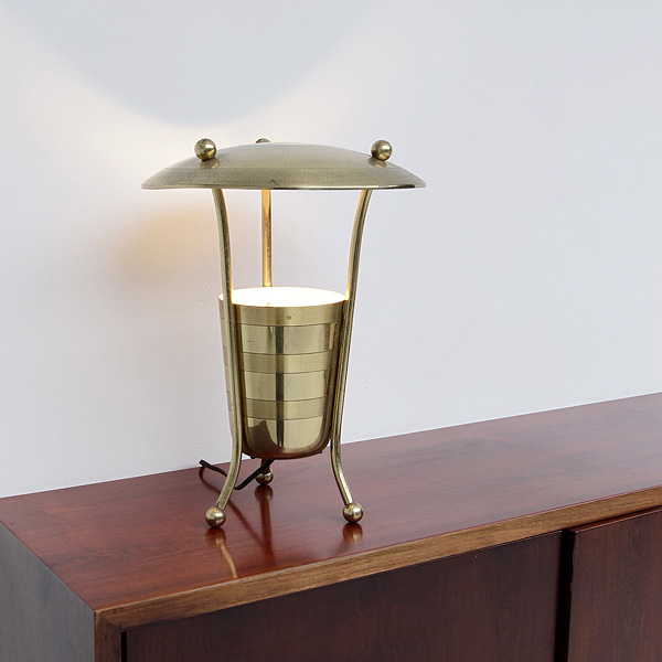 RARE 50S BRASS TABLE LAMP