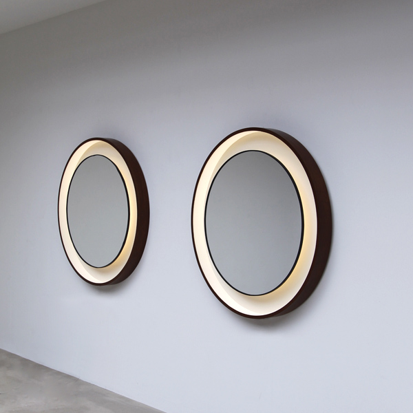 City furniture 2 round large decorative mirrors for Large round decorative mirror