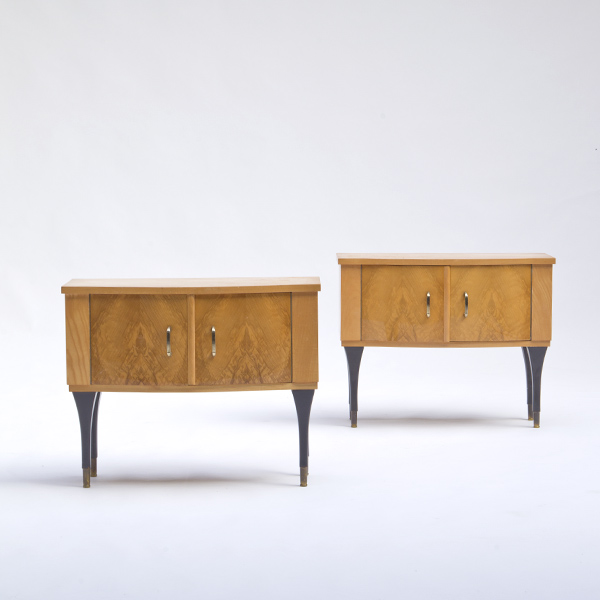 Beautiful set of 2 blond wood nightstands italy