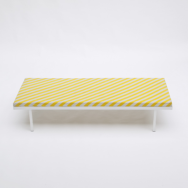1980s metal daybed striped upholstery
