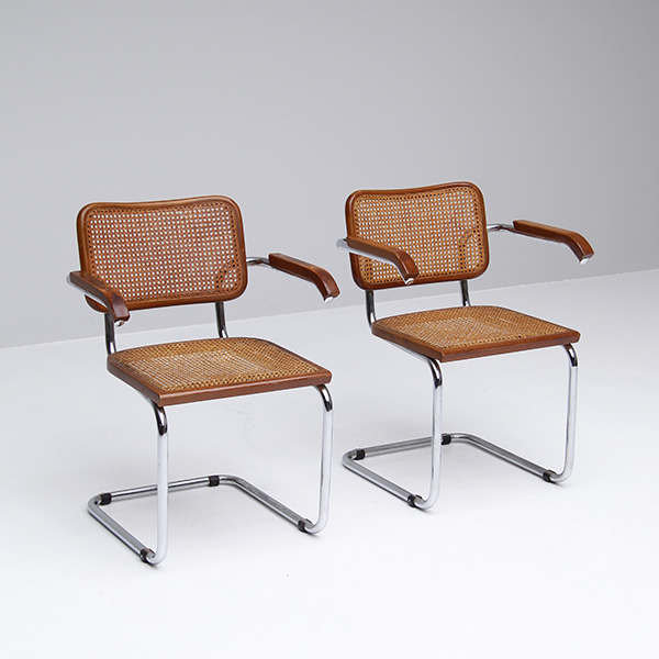 2 decorative side chairs / marcel breuer
