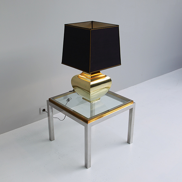 1970s classic brass table lamp