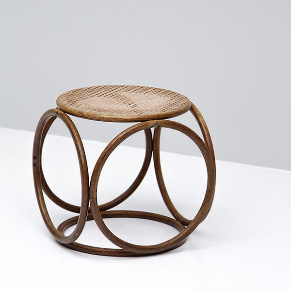 Occasional woven cane tabouret