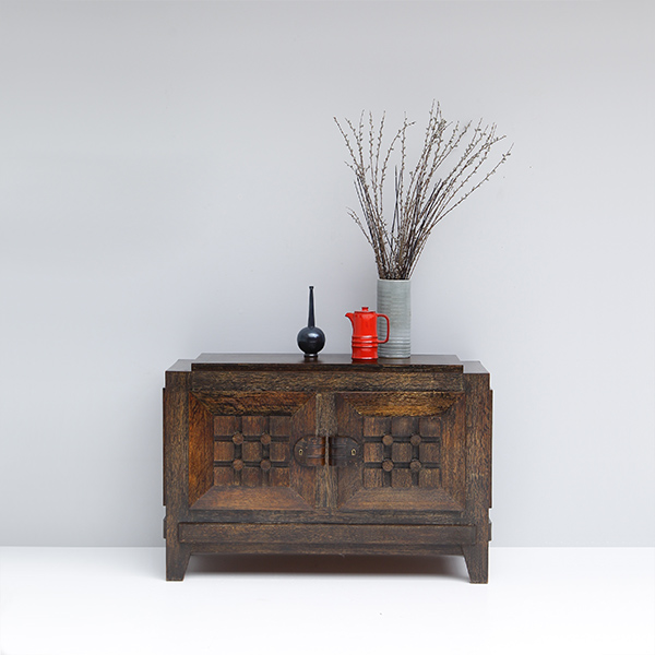 ART DECO BRUTALIST small SIDEBOARD