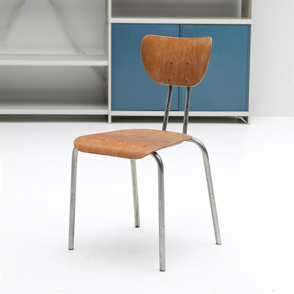 Rare 1950s chrome Tubax chair