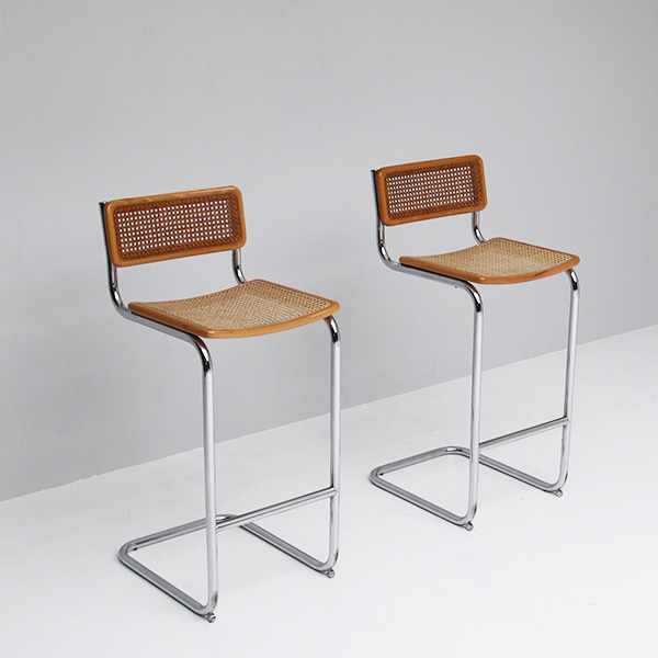 City Furniture Two 1970s Marcel Breuer Cesca Bar Stool