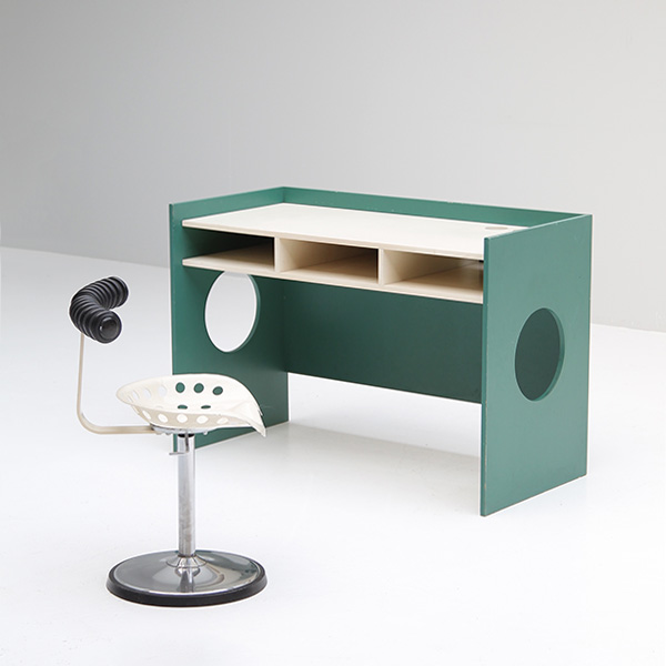 Playful vintage child's desk