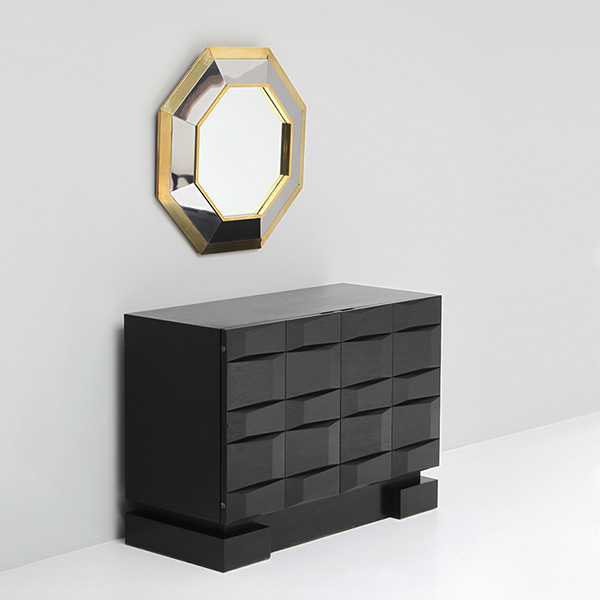 Small 70s brutalist sideboard