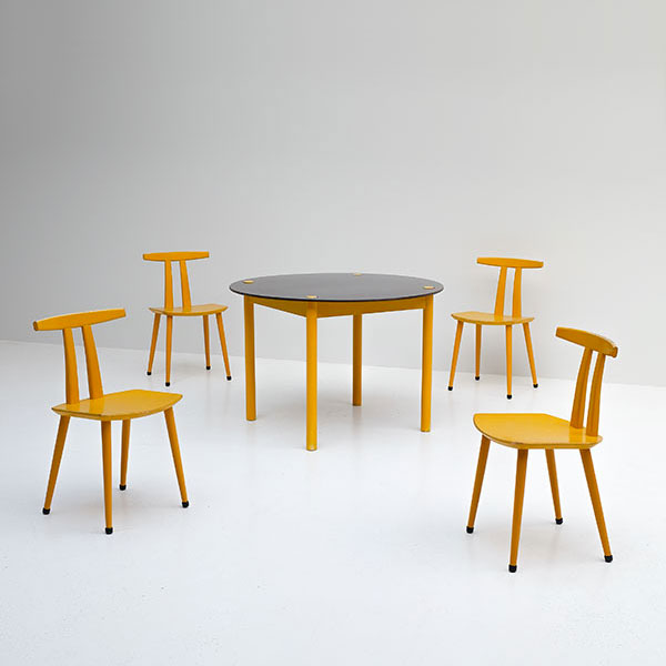 Yellow FDB Mobler dining set