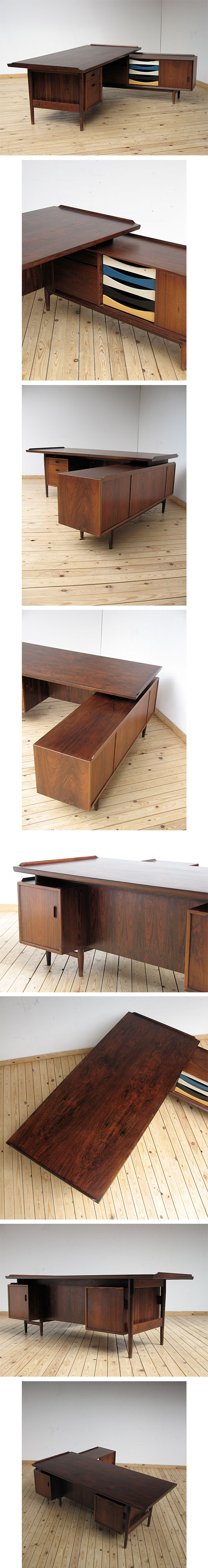 Arne, Vodder, desk, return, Sibast, Furniture, danish, modern