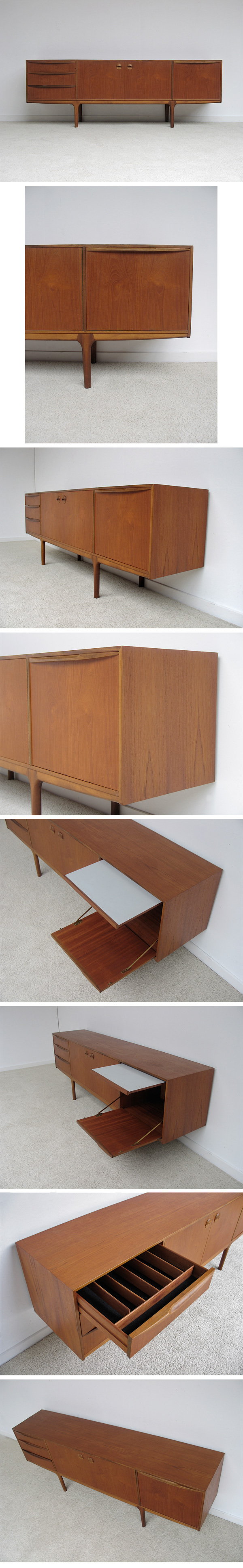 nice, 60s, Danish, modern, grained, teak, sideboard