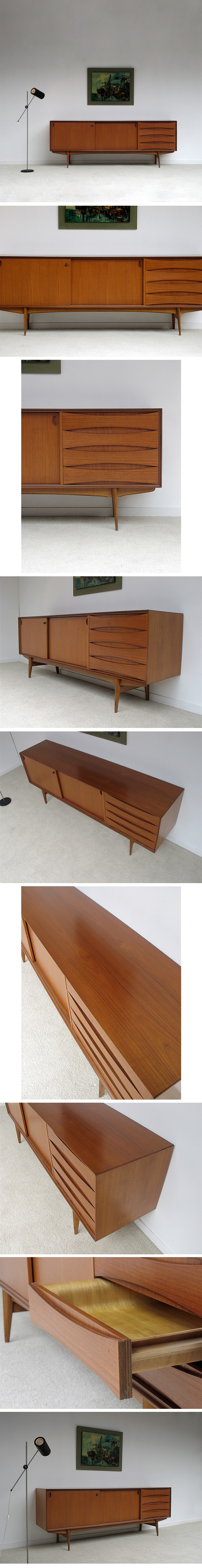 beautiful, 60's, teak, sideboard, excellent, condition, dutch, vodder