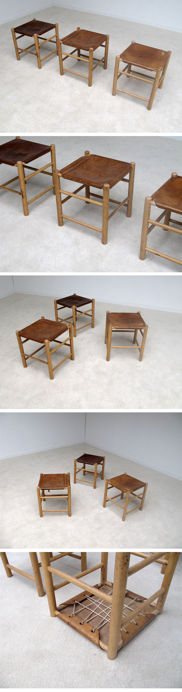 stools, attributed, Charlotte, Perriand, 1960s