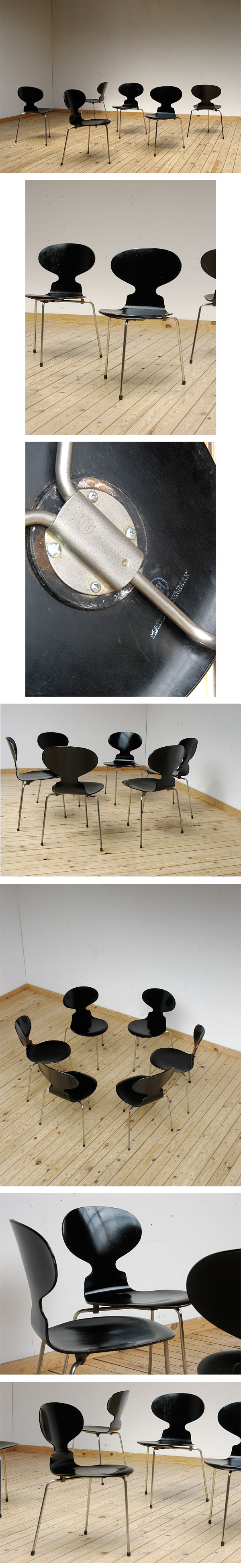 City furniture 6 chaises ant arne jacobsen fritz hansen for Chaise arne jacobsen