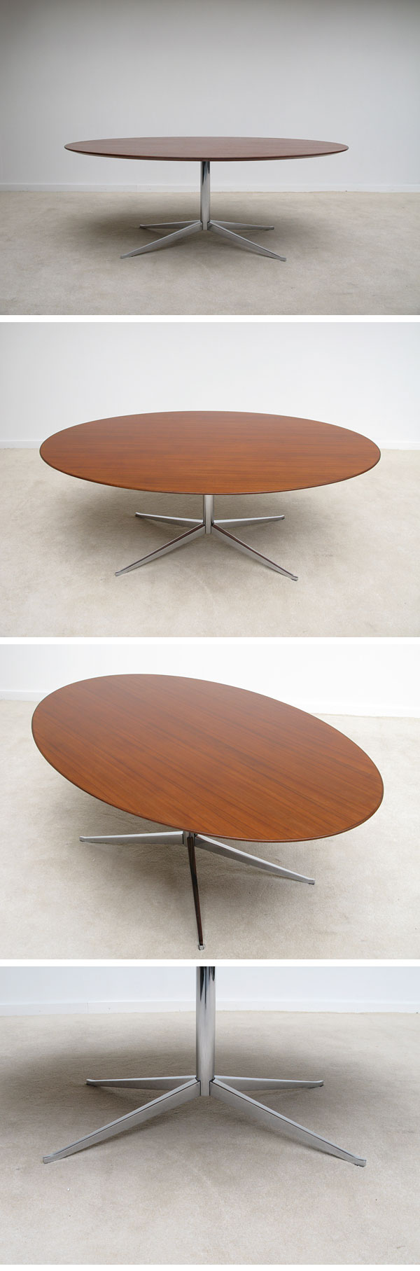 City Furniture 1960s Elliptical Conference Dining