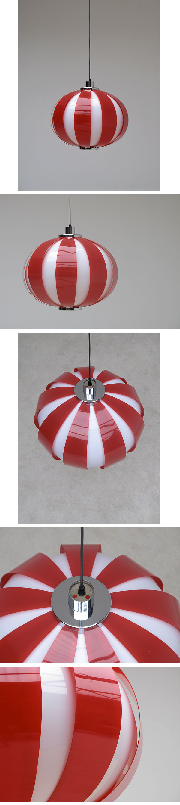 60s, two tone, striped, plexi, hanging, light