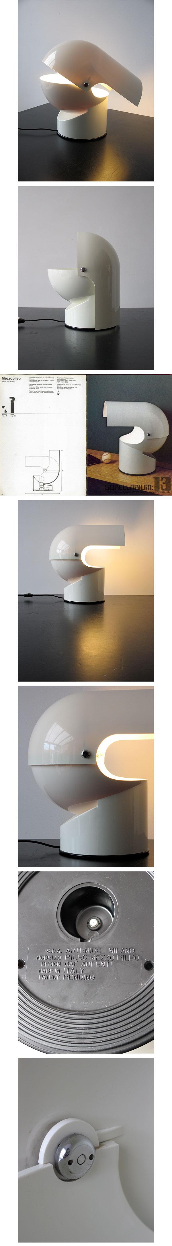 Mezzopileo, Pileino, Gae Aulenti, Artemide, 1972, space1999, wright20