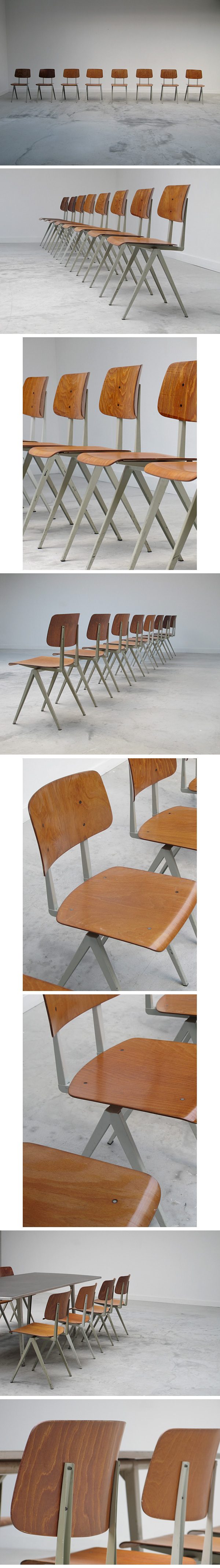 Industrial, chairs, friso kramer, prouve, utch, design, moma