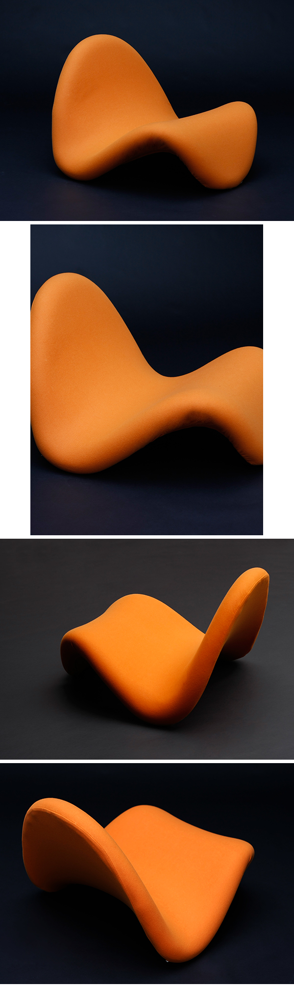 Pierre Paulin, Tongue, Chair, Artifort, 1960s, 60, 70s, space age