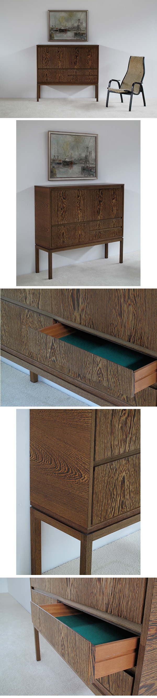 Decorative, 70s, Wenge, cabinet, bar