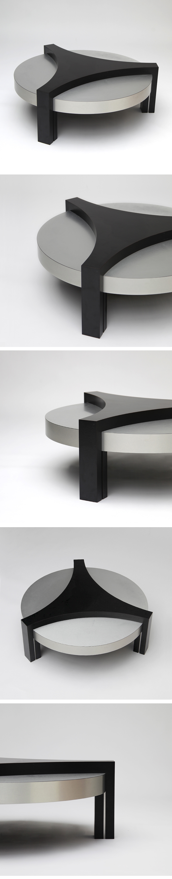 ROUND, 70'S, BRUSHED, ALUMINIUM, COFFEE TABLE