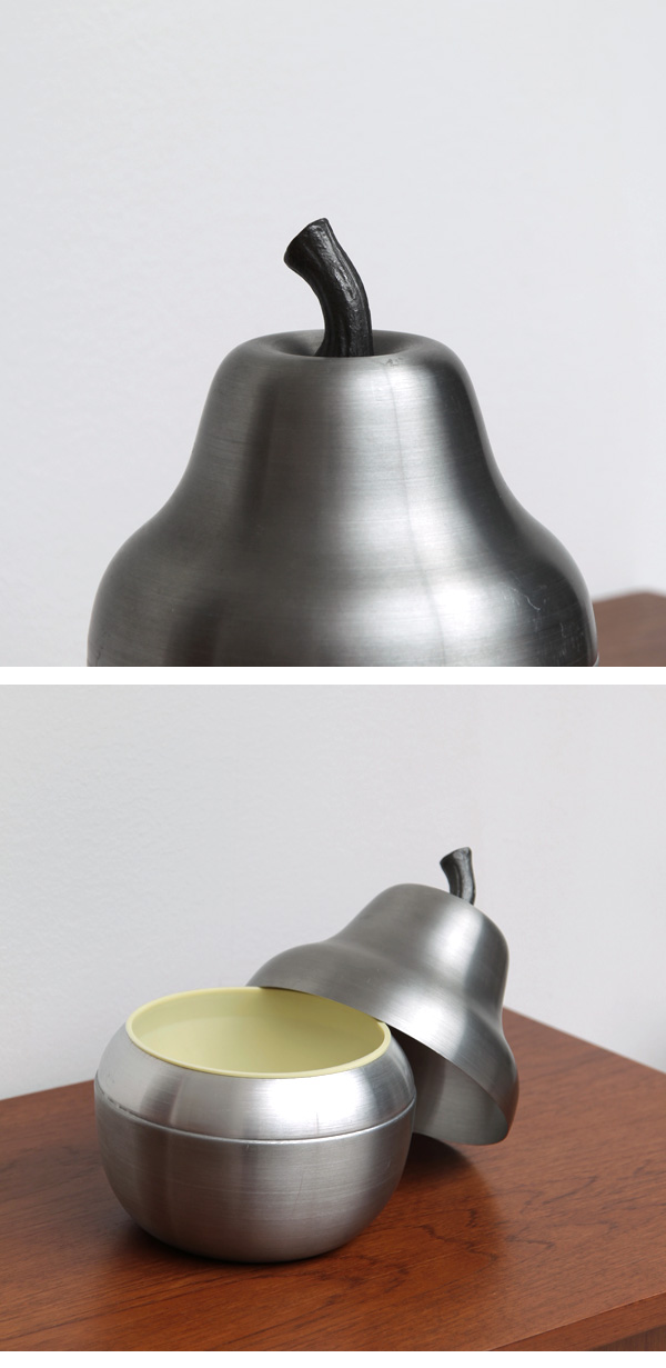 pear, ice bucket, polished, metal