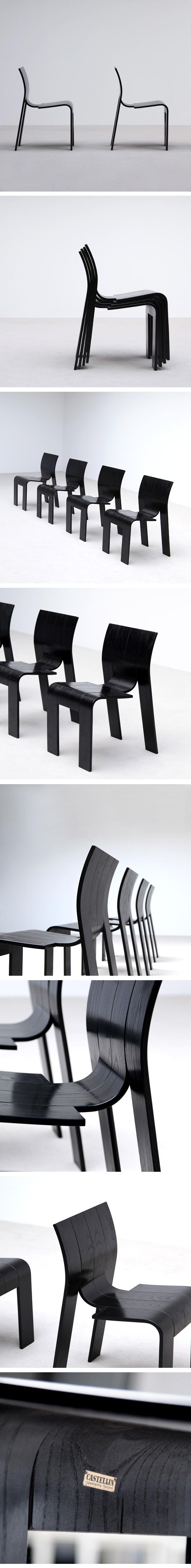 Gijs Bakker, strip, chairs, Castelijn, 1970s